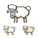 Drie schapen Royalty-vrije Stock Afbeeldingen