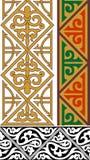 Drie siergrenzen Stock Afbeeldingen