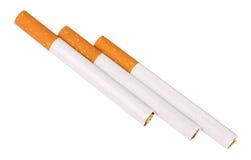 Drie sigaretten met filter Stock Afbeeldingen