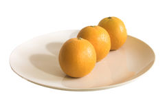 Drie sinaasappelen royalty-vrije stock foto