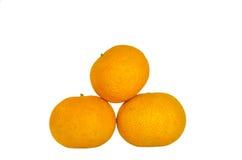 Drie sinaasappelen Royalty-vrije Stock Fotografie