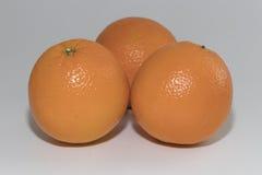 Drie sinaasappelen Royalty-vrije Stock Afbeelding