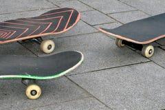 Drie skateboards Royalty-vrije Stock Foto
