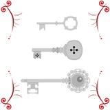Drie sleutels Royalty-vrije Stock Afbeeldingen
