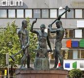 Drie Smiths Standbeeld in de Kathedraal van Helsinki finland royalty-vrije stock foto's