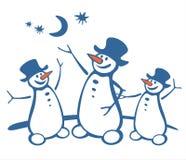 Drie sneeuwballen Royalty-vrije Stock Foto