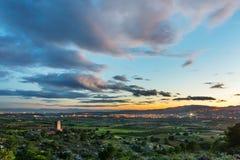 Drie Spaanse dorpen Royalty-vrije Stock Fotografie