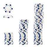 Drie stapels casinospaanders Stock Afbeelding