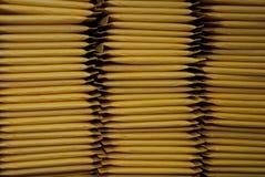 Drie Stapels Opgevulde Enveloppen van de Post Royalty-vrije Stock Fotografie