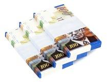 Geïsoleerdes 100 NOS factureren de Trap van Stapels royalty-vrije stock afbeelding