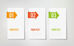 Drie stappeninfographics Stock Foto