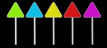 Drie-steenkool kleurentekens stock afbeeldingen