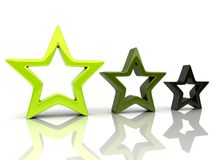 Drie sterren 1 Vector Illustratie
