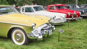 Drie Studebaker-Auto's Stock Afbeelding