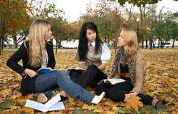 Drie studenten Stock Foto