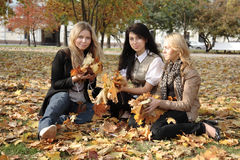 Drie studenten Royalty-vrije Stock Foto's