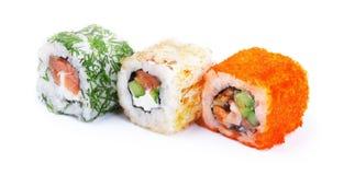 Drie sushibroodjes Stock Afbeeldingen