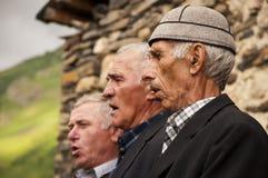 Drie svanetian zangers Royalty-vrije Stock Foto