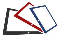 Drie tabletten Royalty-vrije Stock Afbeelding