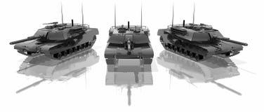 Drie tanks Stock Afbeeldingen