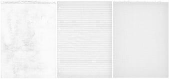 Drie teared documenten Royalty-vrije Stock Foto