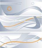 Drie technologieachtergronden Stock Afbeeldingen