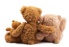 Drie teddyberen Royalty-vrije Stock Afbeeldingen