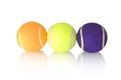 Drie tennisballen Stock Afbeeldingen