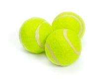 Drie tennisballen Royalty-vrije Stock Foto