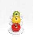 Drie tomaten Stock Afbeeldingen