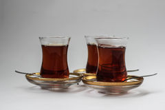 Drie Turkse theeglazen Royalty-vrije Stock Foto