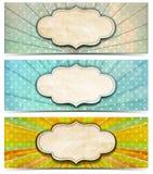 Drie Uitstekende Banners Stock Afbeelding