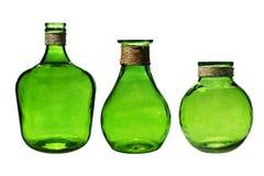 Drie uitstekende flessen. Royalty-vrije Stock Foto's