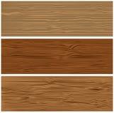 Drie varianten van houten textuur Stock Afbeelding