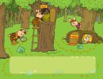 Drie varkens Stock Afbeelding