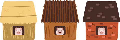 Drie varkens Royalty-vrije Stock Afbeeldingen