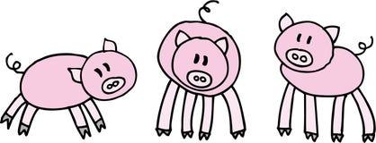 Drie varkens stock illustratie