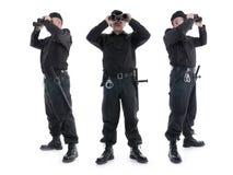 Veiligheidsagenten Stock Foto's