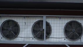 Drie ventilators van industrieel stock video