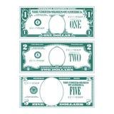 Drie vereenvoudigde gestileerde rekeningen zonder gezichten stock illustratie