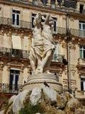Drie vereren standbeeld Montpelier stock afbeelding