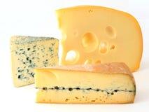 Drie verscheidenheden van Franse kaas Stock Afbeelding