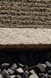 Drie verschillend van natuurlijke materialen in Ryoan -ryoan-ji royalty-vrije stock foto