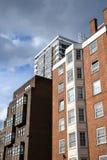 Drie verschillende flatgebouwen op Edgware-Road royalty-vrije stock afbeeldingen
