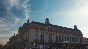 Drie verschillende vestigende schoten van het museum orsay in Parijs stock videobeelden