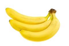 Drie verse bananen. Royalty-vrije Stock Afbeelding