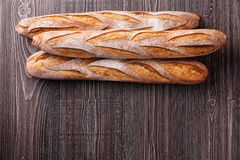 Drie verse Franse Baguette Royalty-vrije Stock Afbeelding