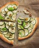 Drie Verse Vegetarische Pizzaplakken royalty-vrije stock fotografie