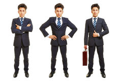 Drie versies van de volledige lichaams bedrijfsmens royalty-vrije stock afbeelding
