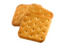 Drie vierkante koekjes Stock Afbeeldingen